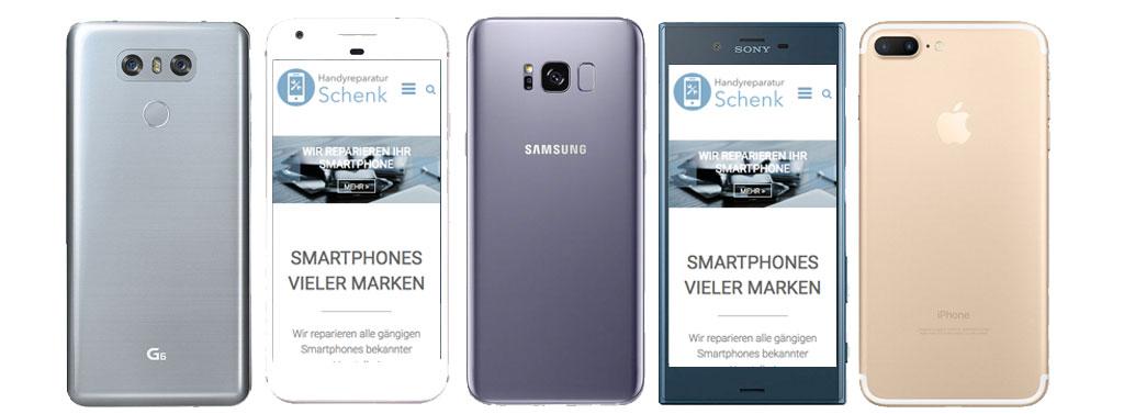 Smartphones vieler Marken